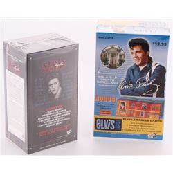Lot of (2) Elvis Presley Blaster Boxes with (1) 2007 Elvis Is Press Pass with (10) Packs  (1) 2008 P