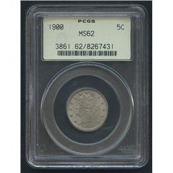 "1900 5¢ Liberty Head ""V"" Nickel (PCGS MS 62)"
