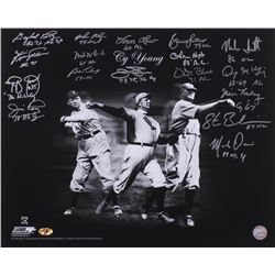 CY Young Winners 16x20 Photo Signed by (16) with Jim Palmer, Fergie Jenkins, Vida Blue, Denny McClai