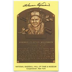 Harmon Killebrew Signed Twins Gold Hall of Fame Postcard (PA COA)