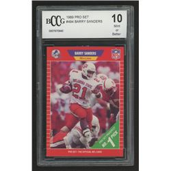 1989 Pro Set #494 Barry Sanders RC (BCCG 10)