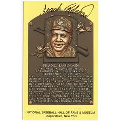 Frank Robinson Signed Orioles Gold Hall of Fame Postcard (PA COA)