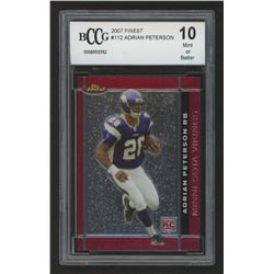 2007 Finest #112 Adrian Peterson RC (BCCG 10)