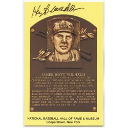 Hoyt Wilhelm Signed New York Giants Gold Hall of Fame Postcard (PA COA)