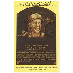 Billy Williams Signed Cubs Gold Hall of Fame Postcard (PA COA)