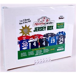 "Sportscards.com ""Jersey Box"" - Series 1 Signed Football Jersey Mystery Box"