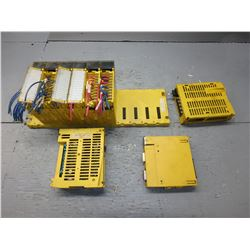FANUC ABU10A A03B-0807-C001 10 SLOT RACK W/ 9 MODULES ***SEE PICS FOR MODULES***