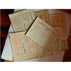VINTAGE FOOD RATION BOOKS FROM ENGLAND - 1918 - 8 TTL