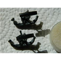 **** FEATURE ITEM **** VINTAGE CUFFLINKS - VIKING LONG BOAT - SWAN ON SAIL - BLACK OVER WHAT SEEMS T