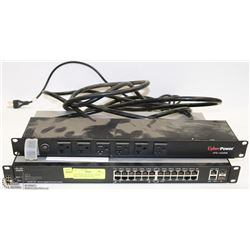 CISCO SG200-26P 26 PORT SMART SWITCH & CYBER POWER