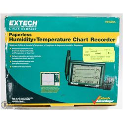 EXTECH RH520A HUMIDITY TEMP PAPERLESS RECORDER