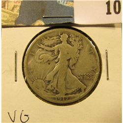 1917 Reverse D Walking Liberty Half Dollar, VG.