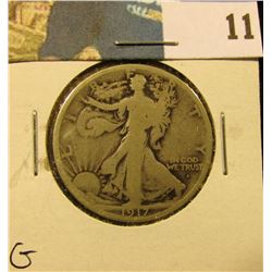 1917 Obverse S Walking Liberty Half Dollar, G.