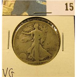1918 S Walking Liberty Half Dollar, VG.