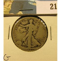 1921 P Walking Liberty Half Dollar, G.