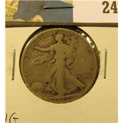 1923 S Walking Liberty Half Dollar, VG.
