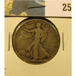 1929 S Walking Liberty Half Dollar, Fine.