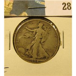 1934 S Walking Liberty Half Dollar, Fine.
