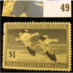 1947 RW14 U.S. Federal Migratory Waterfowl Stamps,Signed.
