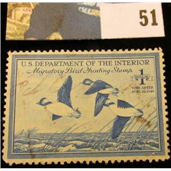 1948 RW15 U.S. Federal Migratory Waterfowl Stamps,Signed.