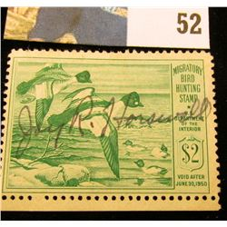 1949 RW16 U.S. Federal Migratory Waterfowl Stamps,Signed.