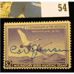1950 RW17 U.S. Federal Migratory Waterfowl Stamps,Signed.