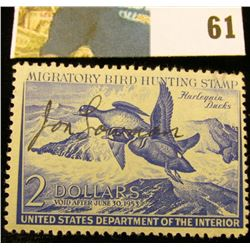 1952 RW19 U.S. Federal Migratory Waterfowl Stamps, Signed, OG, VF.