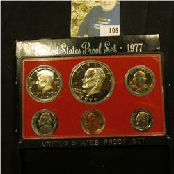 1977 S U.S. Proof Set with Eisenhower Proof Dollar. Cameo frosted Six-piece Set.