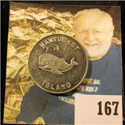 """1964 Nantucket Island """"Good For 2 Bits at The Seven Seas The Sign of the Whale The Port of Call 1964"""