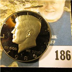 1986 S Deep Cameo Proof Kennedy Half Dollar.