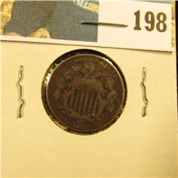 1870 U.S. Shield Nickel, VG+.