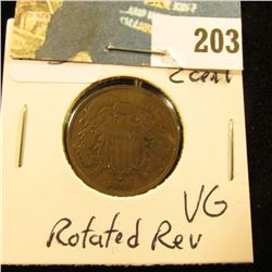 1865 2 cent piece VG  rotated rev