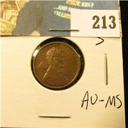 1919 S Lincoln Cent - AU-MS