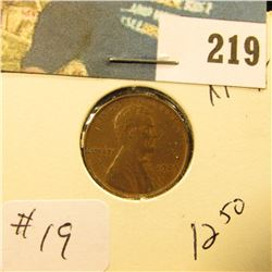 1909 VDB Lincoln Cent - XF 45