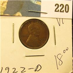 1922 D Lincoln Cent - VF