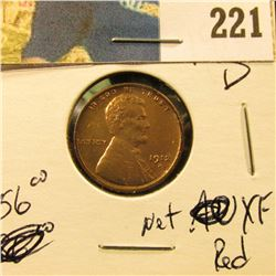 1912 D Lincoln Cent - Net XF red