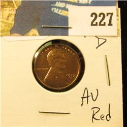 1917 D Lincoln Cent - AU red
