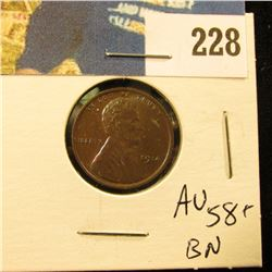 1914 Lincoln Cent - AU-MS BN toned