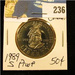 1989 S Congressional Comm Proof Half