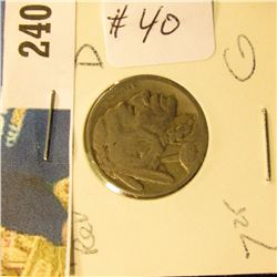 1925 D Buffalo Nickel  G, Rotated Reverse