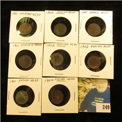 Group of 8 Indian Cents w/problems 3-1901, 4-1902, 1-1905