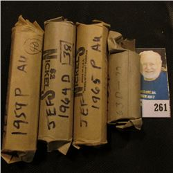 Rolls, partial rolls of lightly circ Jefferson Nickels, (140 total) coins total  $7.00 face, (40 - 1