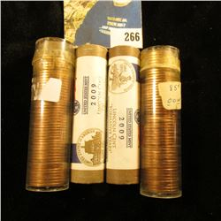 BU rolls of Lincoln Cents - 1969 S Bu (short 3 coins) 1963 D BU roll, & (2) mint wrapped rolls 2009