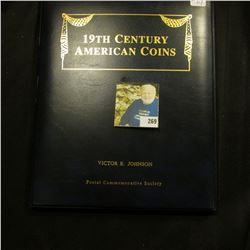 Educational collection of Coins & Stamps - contains 1844 Braided Hair Large Cent in Fine, 1867 2 cen