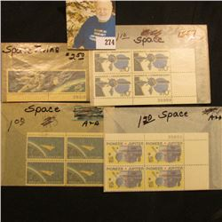 Stamps-Space Assortment  Scott # 1331-32 Space Twins, block of 4 Scott # 1557 Mariner 10, 4 blk Scot