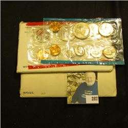 Original 1971 & 1972 U.S. Mint Sets in original cellophane and envelopes.