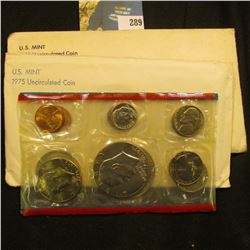 1975 & 1980 U.S. Mint Sets in original cellophane and envelopes.