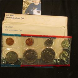 1975 & 1978 U.S. Mint Sets in original cellophane and envelopes.