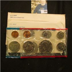 1975 & 1981 U.S. Mint Sets in original cellophane and envelopes.
