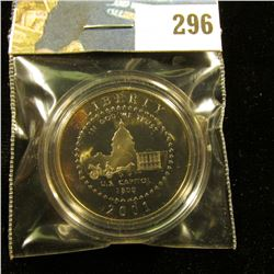 2001 P Proof 68+ Capitol Commemorative Half-Dollar, encapsulated.